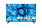 LG 43″ UHD, DLED, DVB-C/T2/S2, Wide Viewing Angle, 4K Active HDR, ThinQ AI, webOS Smart TV, Built-in Wi-Fi, Two Pole Stand, Ceramic Black